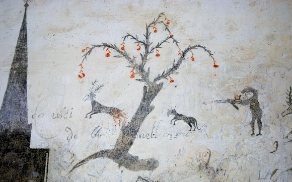 Castello_Caetani_graffiti_detenuti