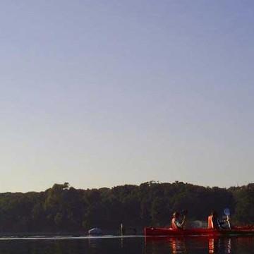 in canoa sul lagodipaola